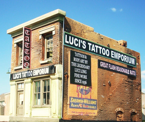 Downtown Deco HO Luci's Tattoo Emporium Kit