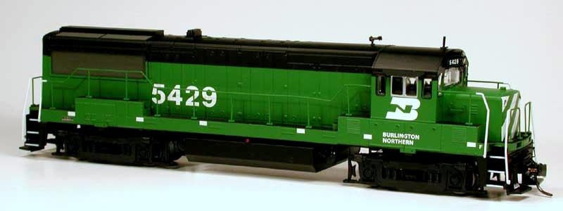 Bowser Trains HO GE U25B w/LokSound & DCC - Executive Line - Burlington Northern #5429 (Cascade Green, Black, White)