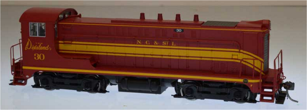 Bowser Trains HO Baldwin VO-1000 - Standard DC - Nashville, Chattanooga & St. Louis #33 (Maroon, Yellow)