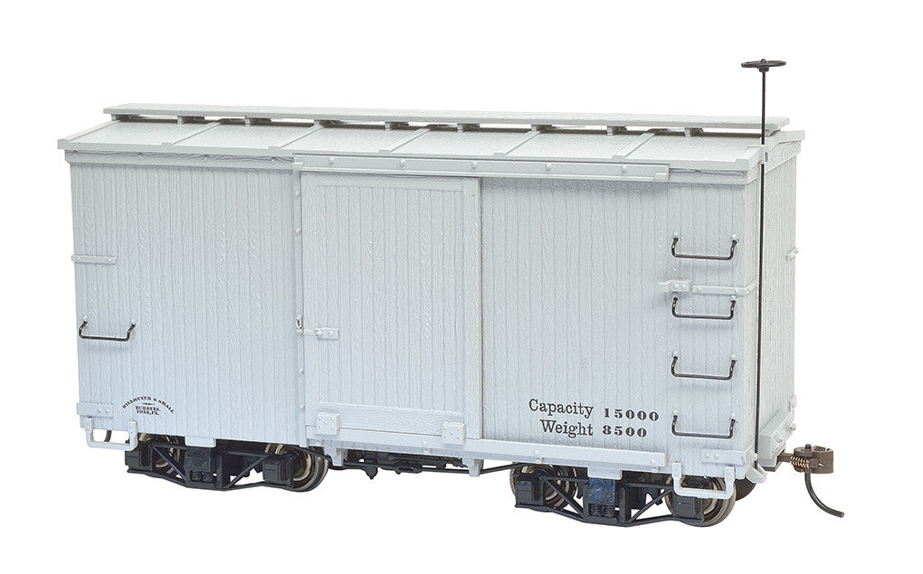 Bachmann On30 Spectrum 18' Box w/Murphy Roof, Undec/Gray (2 Cars)
