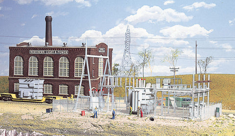 Walthers Cornerstone HO Northern Light & Power Substation Kit