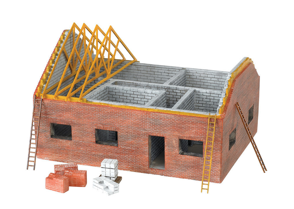 Bachmann HO Residential Building Construction Site - Assembled