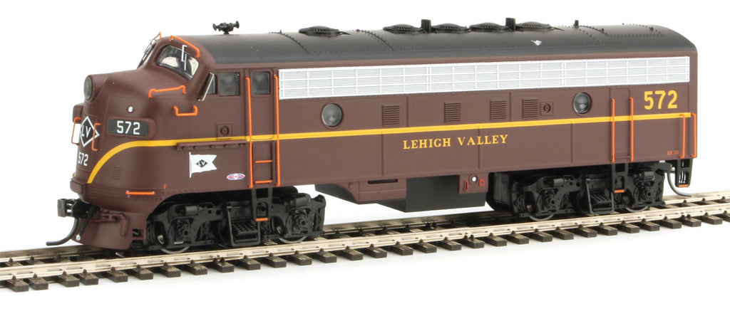 Bowser Trains HO EMD F7A - Standard DC - Executive Line - Lehigh Valley #562 (Cornell Red, Yellow, Black, Flag Nose Logo)