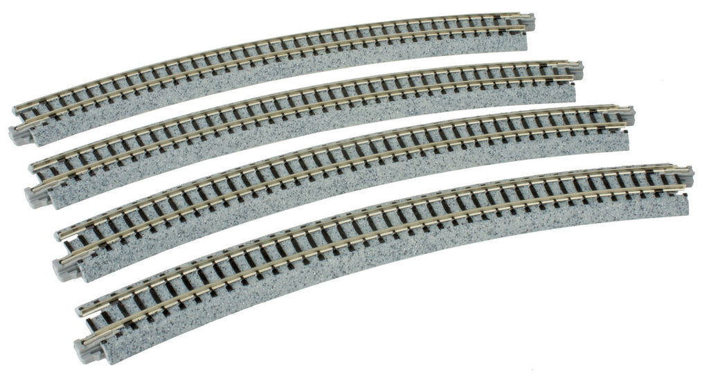 "Kato N Curved Roadbed Track Section - Unitrack -- 30 Degree, 15""  381mm Radius"