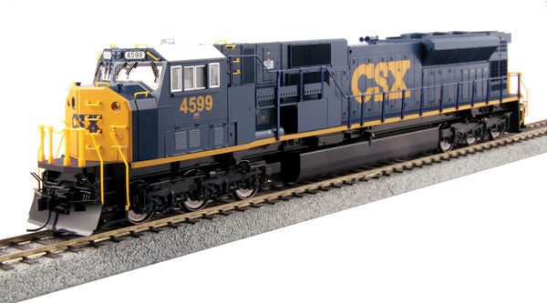 Kato HO EMD SD80MAC w/LokSound & DCC - CSX #4599 (Dark Future, blue, yellow)