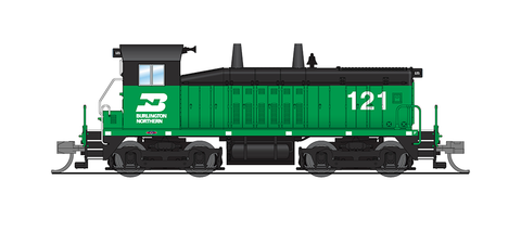 Broadway Limited N EMD SW7, BN 121, Green & Black, Paragon3 Sound/DC/DCC