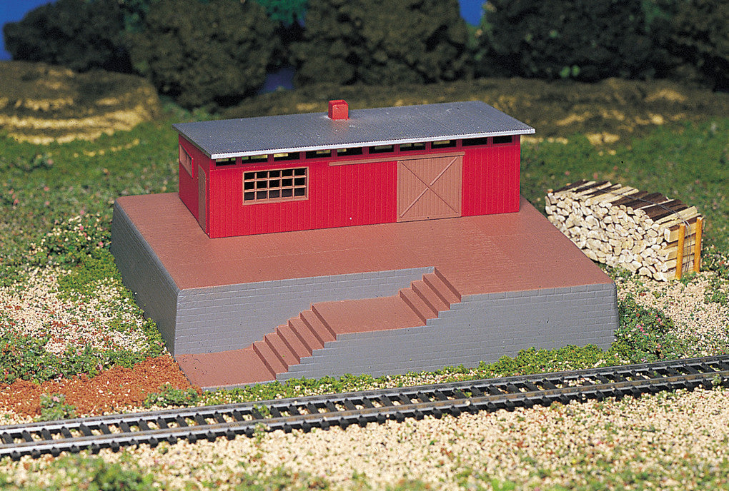 Bachmann HO Storage Building with Steam Whistle  - Operating Accessories
