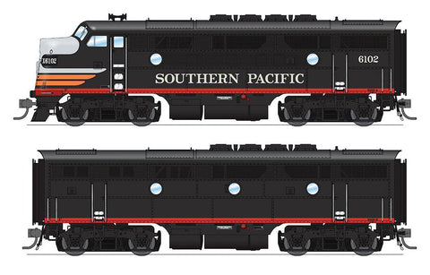 Broadway Limited HO EMD F3 A-B Phase IIa Set w/Sound & DCC - Paragon3 - Southern Pacific #6102A, 6102B (Black Widow, Black, Silver, Orange, Red)