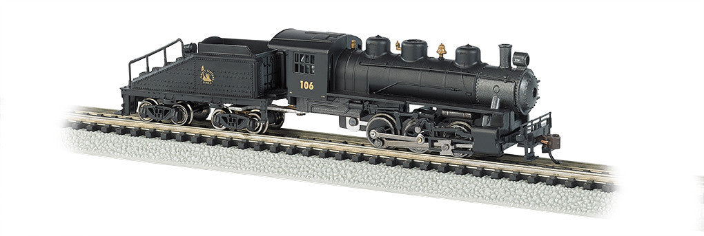 Bachmann N Scale USRA 0-6-0 Switcher & Tender, New Jersey Central #106
