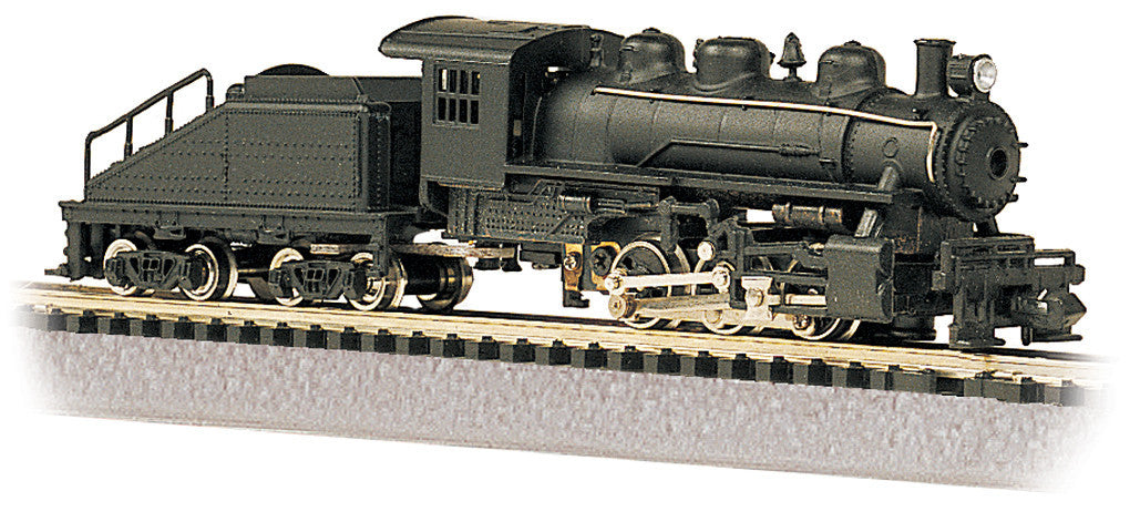 Bachmann N Scale USRA 0-6-0 Switcher & Tender, Painted Unlettered/Black