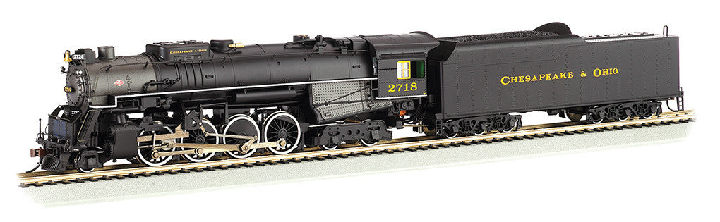 Bachmann HO Berksire 2-8-4 w/DCC & Sound Value, Chesapeake & Ohio® Kanawha #2718