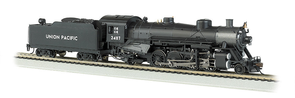Bachmann HO 2-8-2 Light w/DCC & Sound Value, UP #2487
