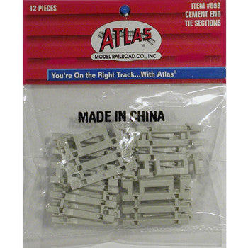 "Atlas HO Concrete Tie 3"" End Snap"
