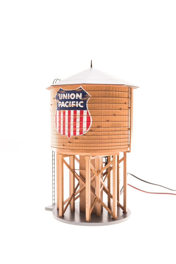 Broadway Limited Imports HO Operating Water Tower UP w/Sound - Weathered Sound
