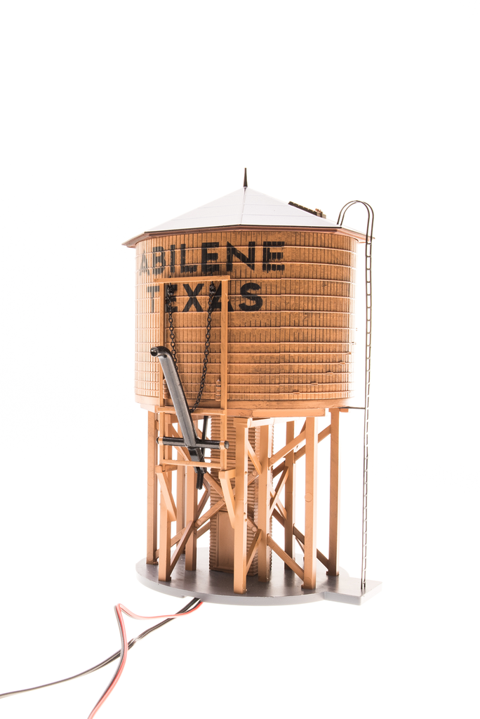BROADWAY LIMITED IMPORTS HO OPERATING WATER TOWER ABILINE W/SOUND