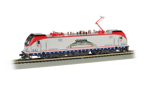 Bachmann HO ACS64 Siemens Electric Locomotive DCC Sound Amtrak #642 Salutes Our Veterans