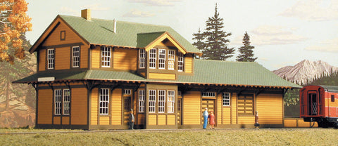 American Model Builders N SP Type 22 Two-Story Combination Depot Laser-Cut Wood Kit