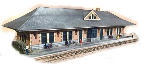 The N Scale Architect - N Lines West Station Laser-Cut Kit