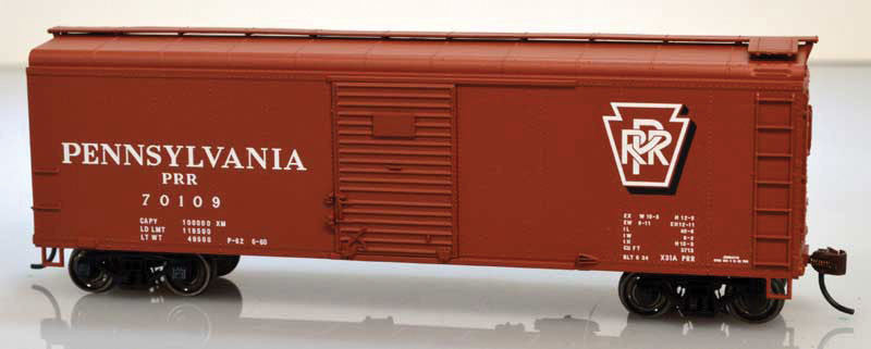 Bowser Trains HO Class X31 40' Single-Door Boxcar - Pennsylvania Railroad #70136 (Tuscan, Shadow Keystone Logo) Kit