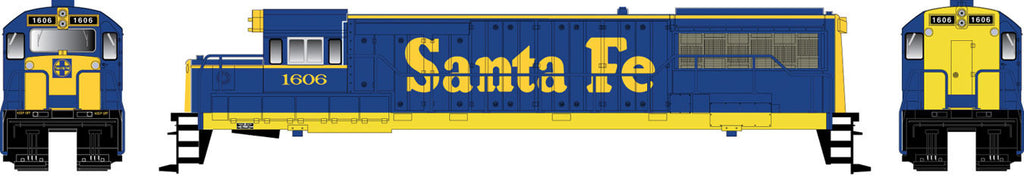 Bowser Trains HO GE U25B w/LokSound & DCC - Executive Line -- Santa Fe #1609 (blue, yellow)