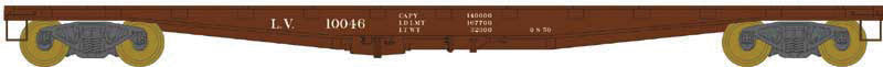 Bowser Trains HO PRR F30a Flatcar - Lehigh Valley #10051 (Boxcar Red) Ready to Run