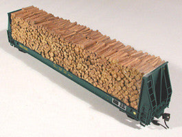 Chooch Enterprises HO Pulpwood Load - For Walthers 52' Cars (932-5780 Series)