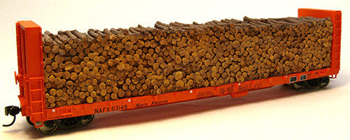 Chooch Enterprises HO Pulpwood Load - For Walthers #932-40050 Series Canadian 50' Bulkhead Flatcar