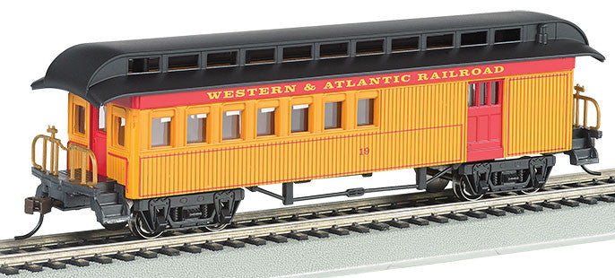Bachmann HO Old Time Combine, Western & Atlantic (Yellow, Red, Black)