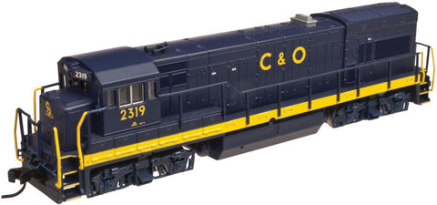 Atlas N GE U23B Low Hood w/DCC - Chesapeake & Ohio #2303 (Blue, Yellow)