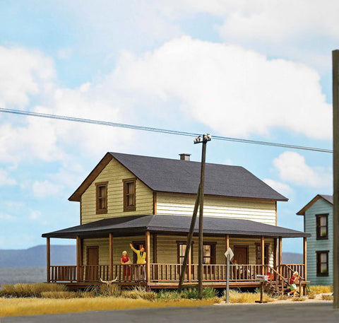 Busch HO North American-Style House Laser-Cut Wood Kit