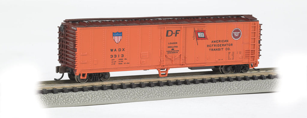 Bachmann N 50' Reefer, American Refrigerator Transit Co. (Orange, Boxcar Red)