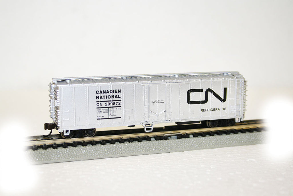 Bachmann N 50' Reefer, Canadian National #209872 (Silver, Black)