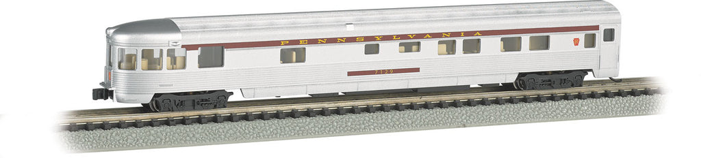Bachmann N 85' Fluted Streamline Observation w/Lighting, Pennsylvania Railroad