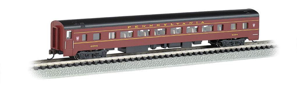 Bachmann N 85' Smooth Side Coach, Pennsylvania Railroad (Tuscan, Black)