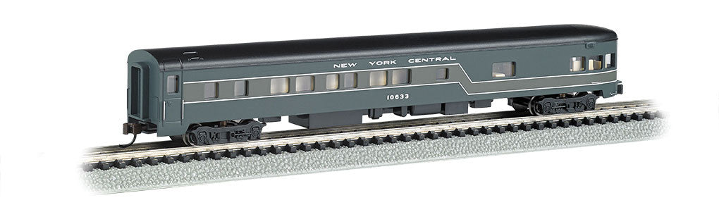 Bachmann N 85' Smooth Side Observation Car, New York Central (2-Tone Gray)
