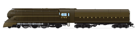 Broadway Limited HO Streamlined Class K4 4-6-2 Pacific w/Sound & DCC - Paragon3 - Pennsylvania Railroad #3768 (1936, As-Delivered Bronze, High Keystone)