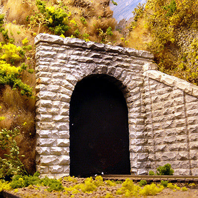 "Chooch Enterprises HO Single-Track Cut Stone Tunnel Portal - 4-1/2 x 4-1/2""  11.4 x 11.4cm"