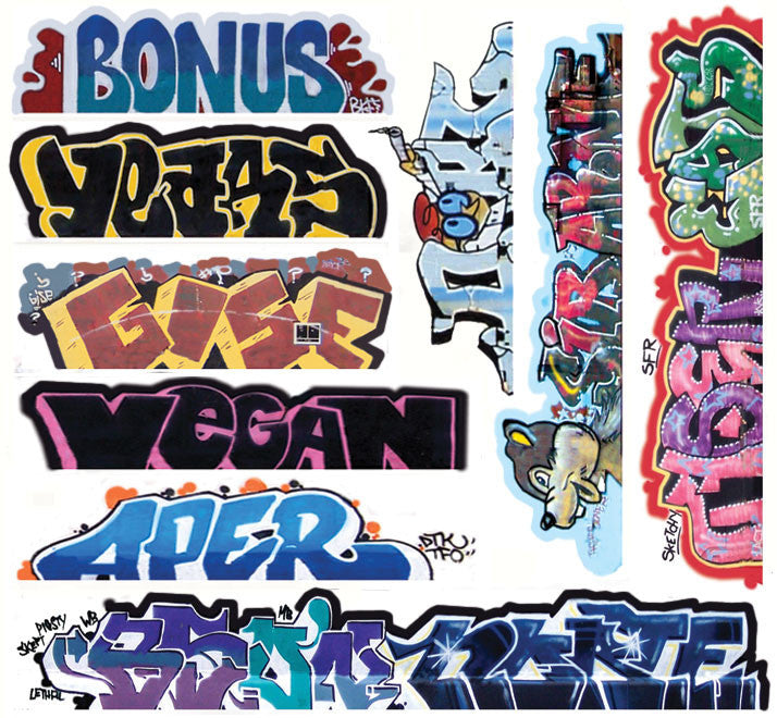 Blair Line HO Mega Set Modern Tagger Graffiti Decals - #13 Pkg. (10)