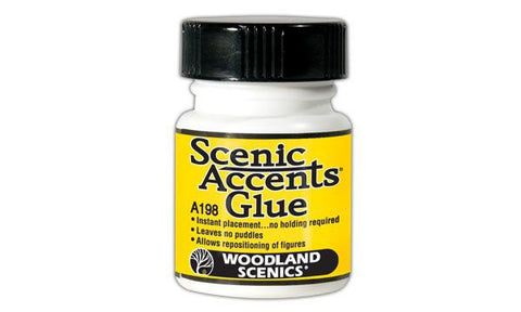 Woodland Scenics Accents Glue w/Brush Applicator (1.25oz. Bottle)