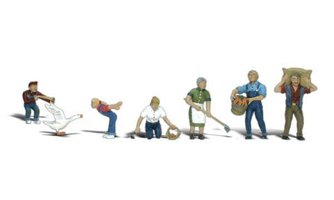 Woodland Scenics N Scenic Accents Farm People (6 w/Goose)