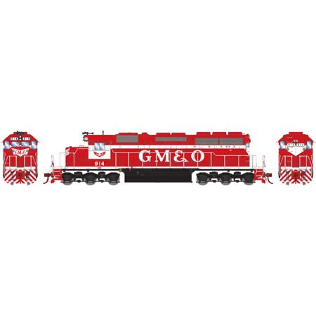 Athearn HO RTR SD40 w/DCC & Sound, GM&O/Red & White #914