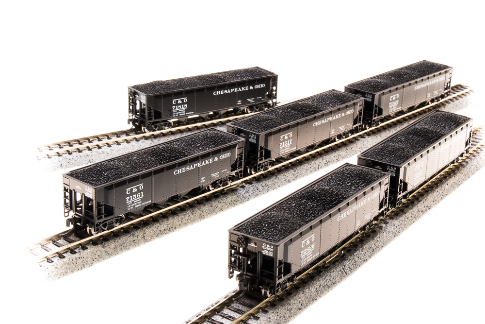 BROADWAY LIMITED IMPORTS N ARA 70t 4bay HOPPER C&O 6 PACK A