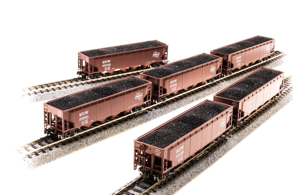 BROADWAY LIMITED IMPORTS N ARA 70t 4bay HOPPER MILW6 PACK B