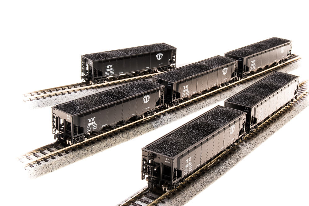 BROADWAY LIMITED IMPORTS N ARA 70t 4bay HOPPER B&M 6 PACK B