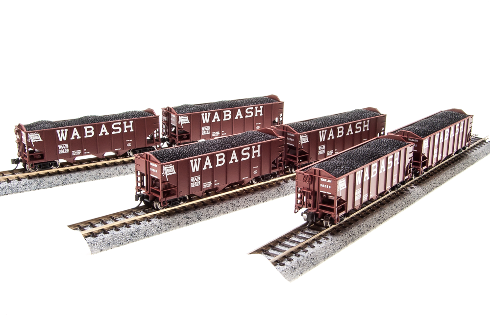 BROADWAY LIMITED IMPORTS N 3-Bay HOPPER WAB 6 PACK