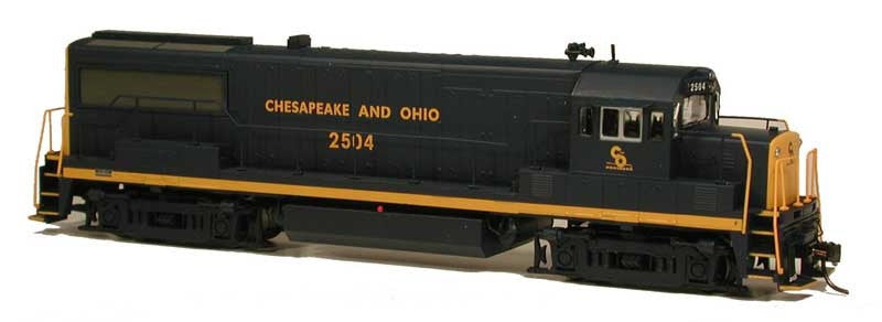 Bowser Trains HO GE U25B - Standard DC - Executive Line - Chesapeake & Ohio #2514 (Blue, Yellow Ends)