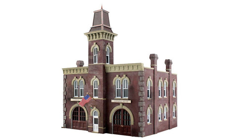 Woodland Scenics N Built-N-Ready 2-Story Firehouse