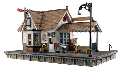 Woodland Scenics N Built-N-Ready The Depot w/Installed LED Lighting