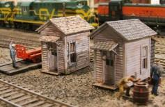 Bar Mills HO Twin Crossing Shacks Kit
