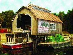 Bar Mills HO Boat House at Cundy Harbor Laser-Cut Wood Kit